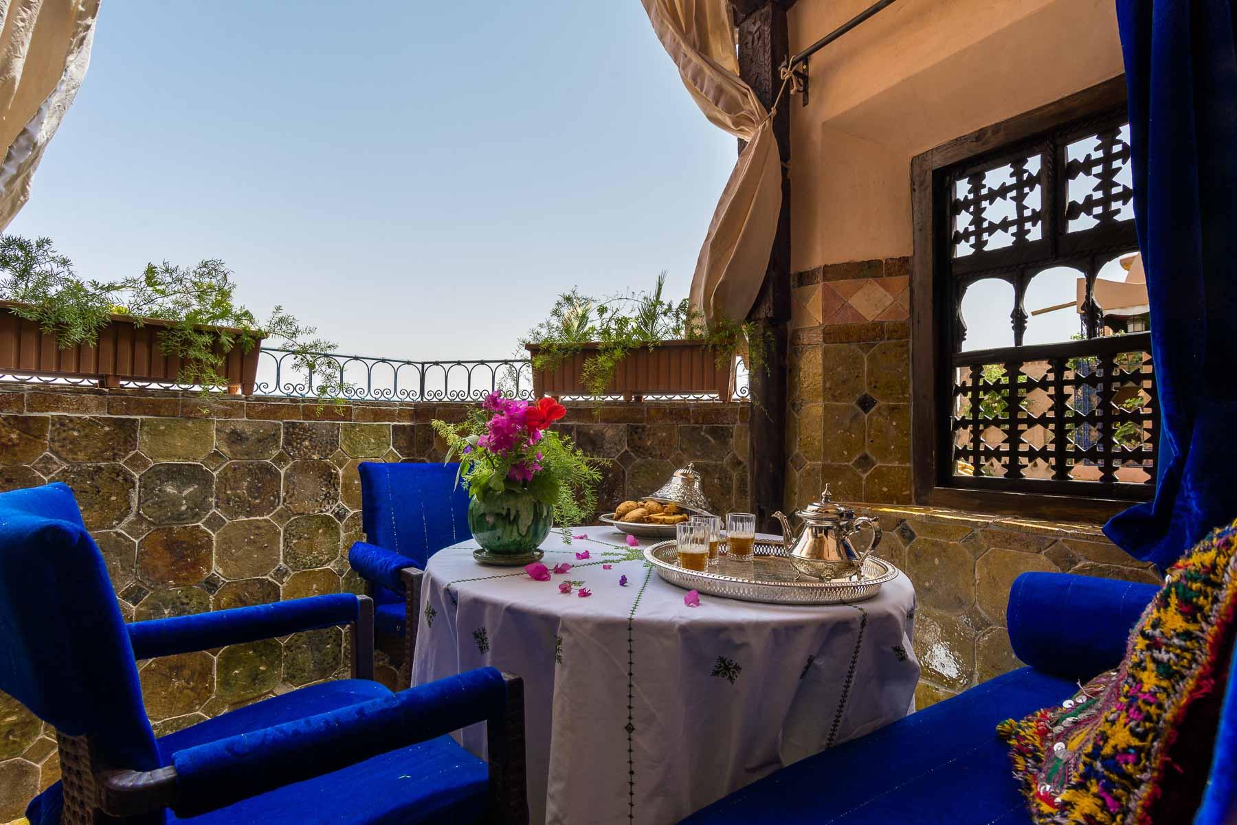 Terrase Hotel Riad Ouarzazate