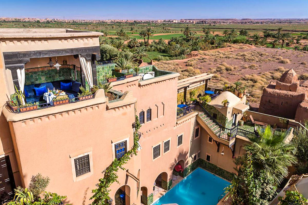 View Atlas mountains Jardain Hotel Riad Ouarzazate